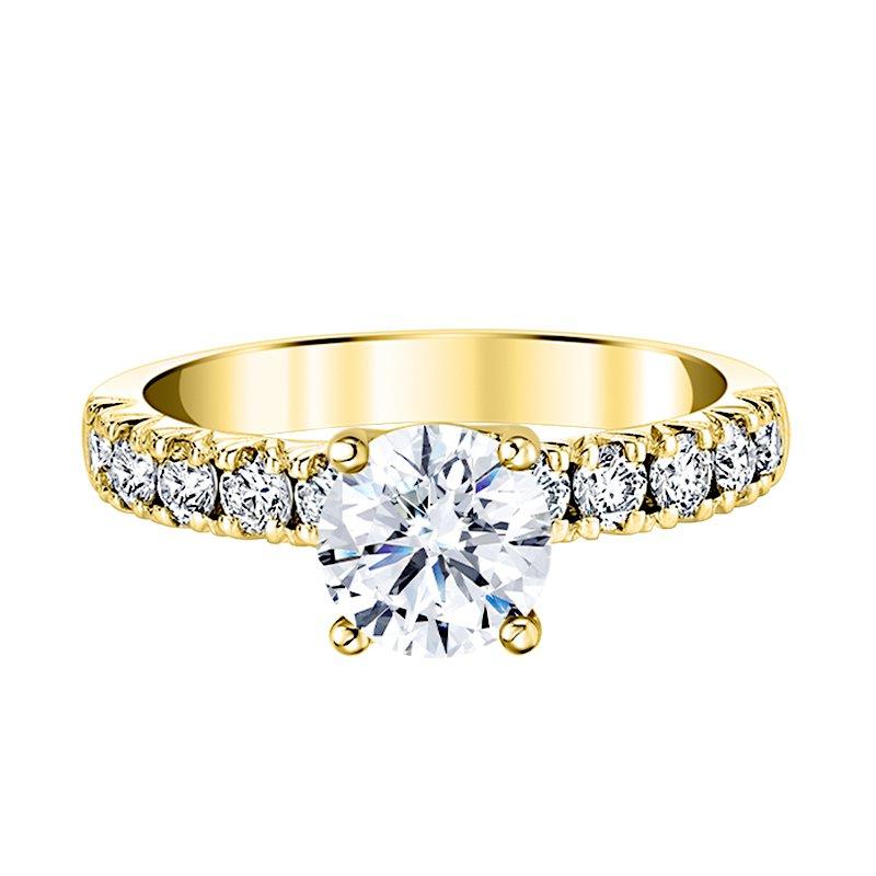 Greenberg's 14k yellow gold 5/8ctw diamond semi mount fishtail engagement ring