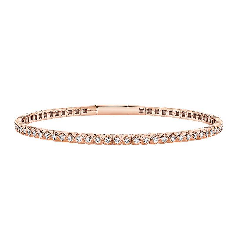 Greenberg's 14k rose gold 7/8ctw diamond bracelet