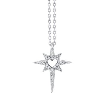 sterling silver love star pendant