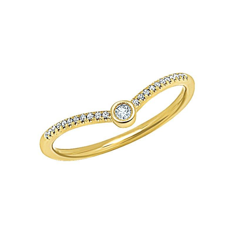 Shy Creation 0.09CT 14K Y/G Diamond Lady's Ring