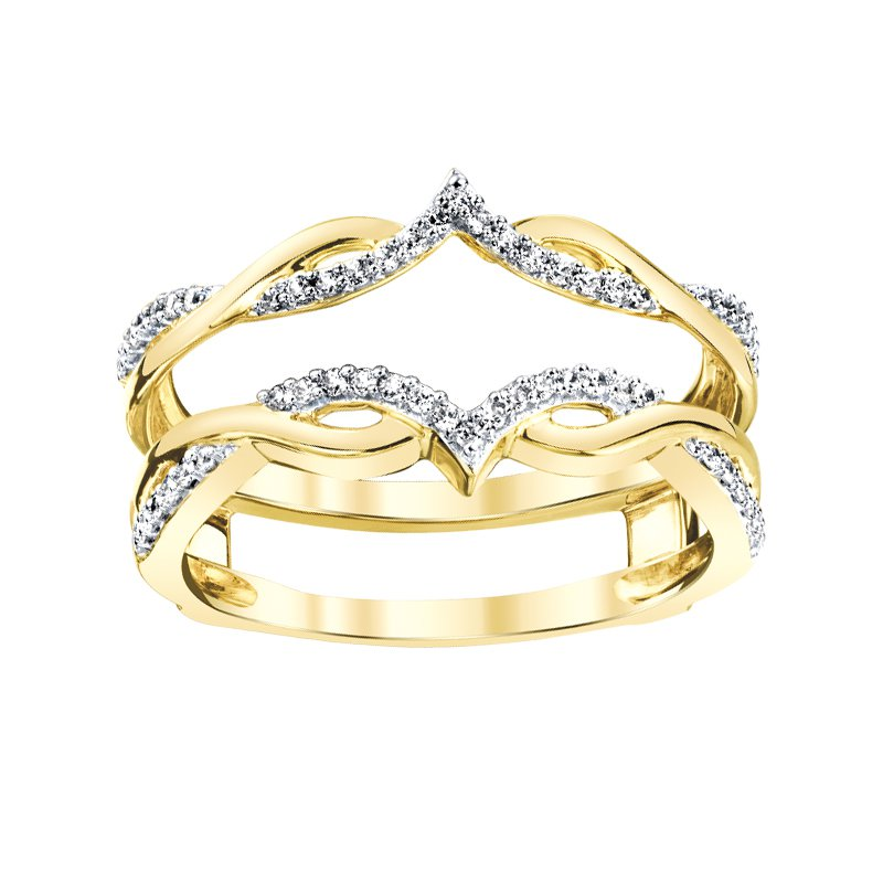 Greenberg's 14k yellow gold 1/5ctw ring enhancer