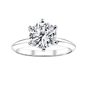 1/2 ct round solitaire engagement Ring