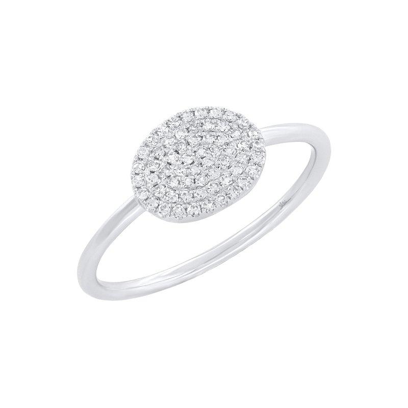 Shy Creation .17CTW 14K/W Diamond Pave Ring