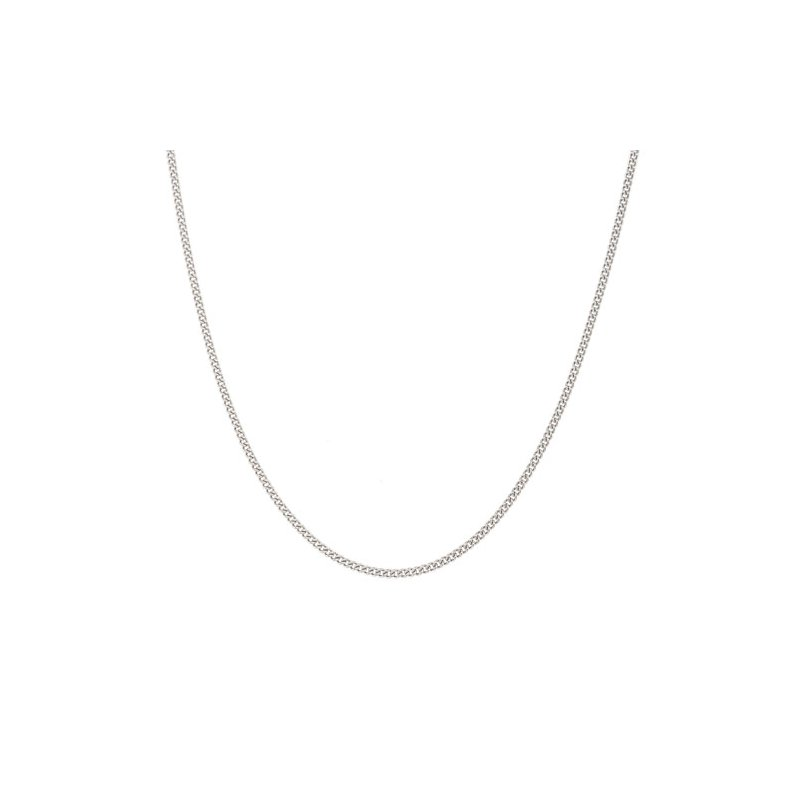 """Kelly Waters 20"""" platinum finish sterling silver 1mm curb chain"""