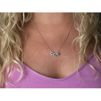 """20"""" platinum finish sterling silver 1mm curb chain"""