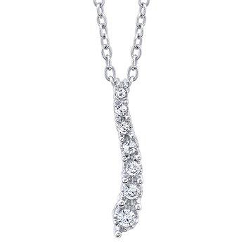sterling silver 1/10ctw diamond journey pendant