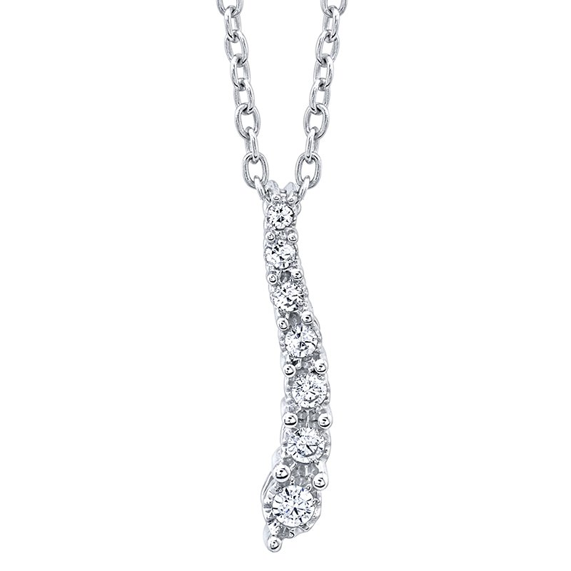 Greenberg's sterling silver 1/10ctw diamond journey pendant