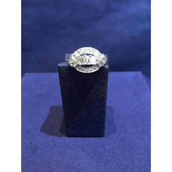 Vintage Open-Arch Diamond Ring
