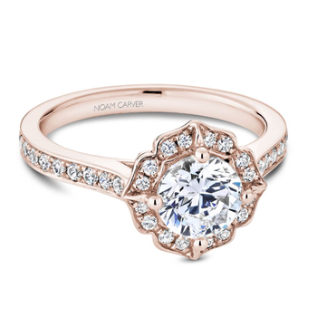 Noam Carver Vintage Halo Engagement Ring