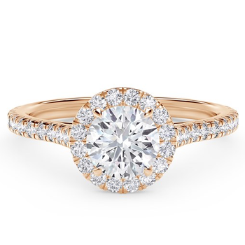 """Forevermark """"Center of My Universe"""" Round Halo Engagement Ring"""