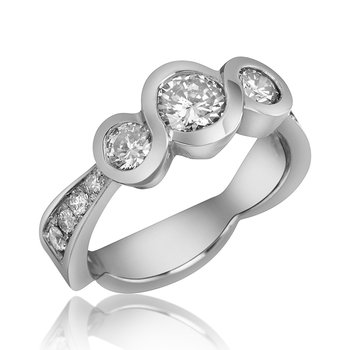 14-Karat White Gold Engagement Ring