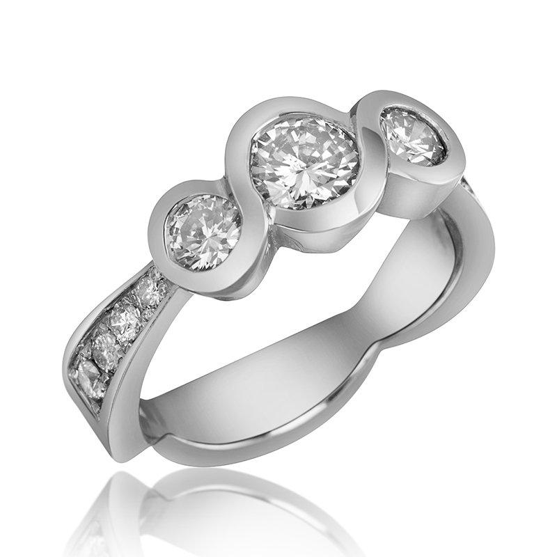 Mikhail 14-Karat White Gold Engagement Ring