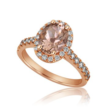 14-Karat Rose Gold Morganite Ring