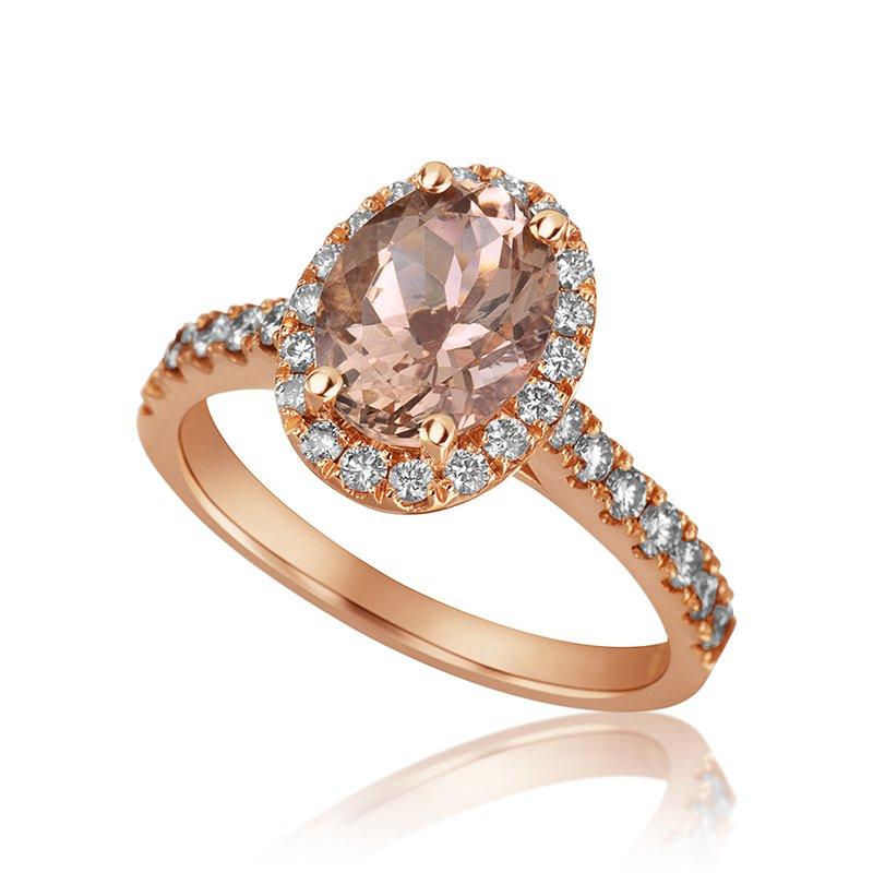 Mikhail 14-Karat Rose Gold Morganite Ring