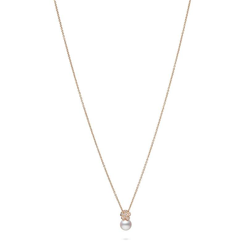 Mikimoto Diamond Flower Necklace