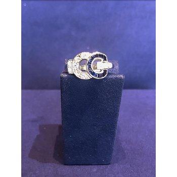 Vintage Blue Sapphire & Diamond Ring