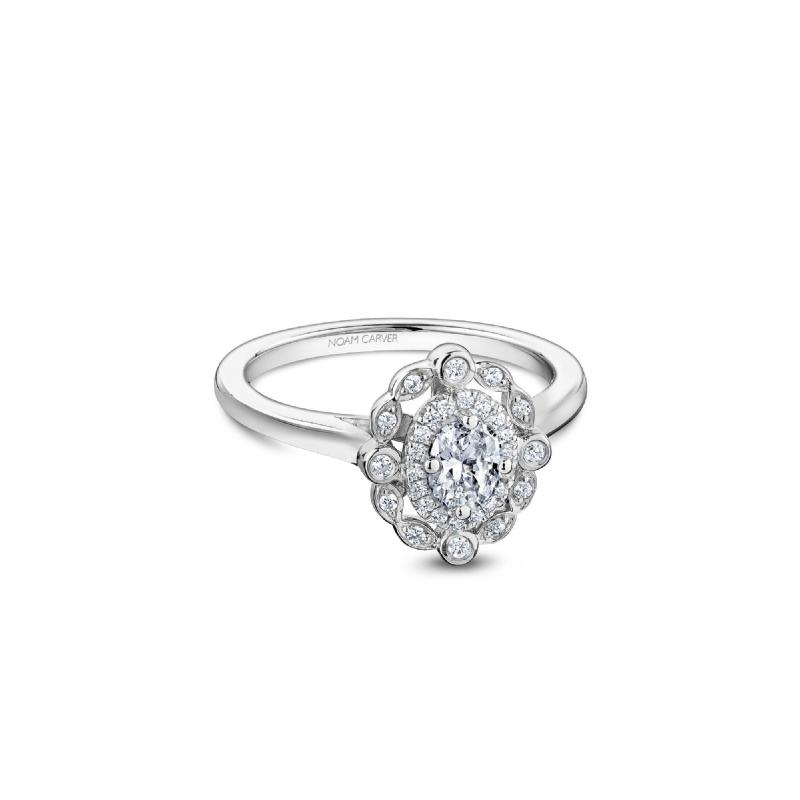 Our Top 20 Bridal Picks Noam Carver Vintage Halo Oval Engagement Ring