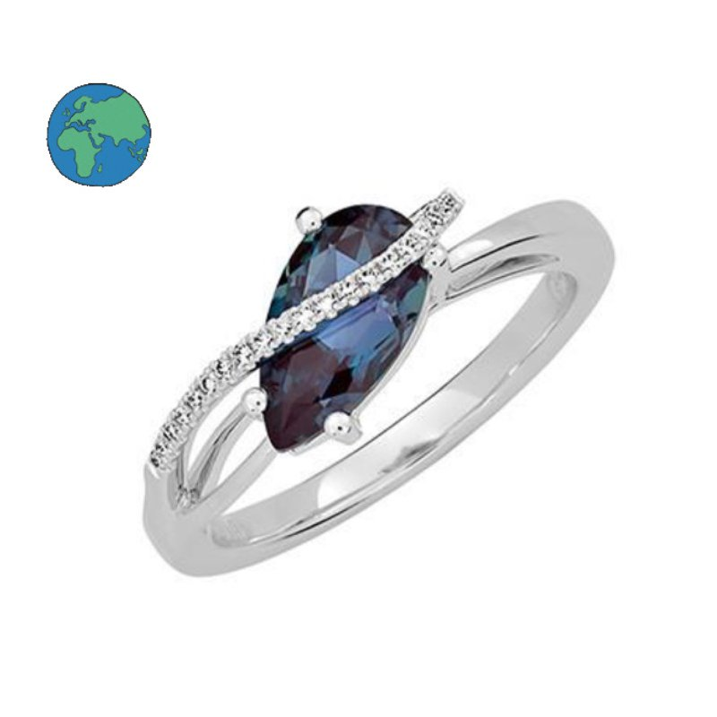 As Seen on Social Media Chatham Alexandrite & Diamond Ring