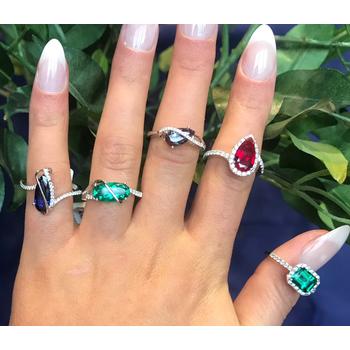 Chatham Alexandrite & Diamond Ring
