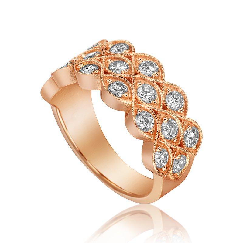 Mikhail 14-Karat Rose Gold Fashion Ring