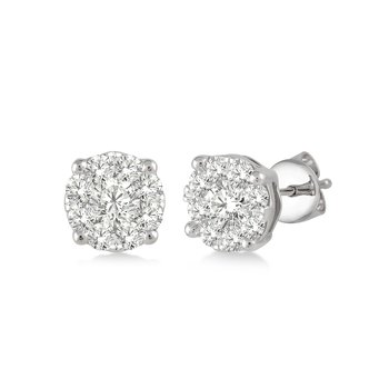 Lovebright Diamond Stud Earrings
