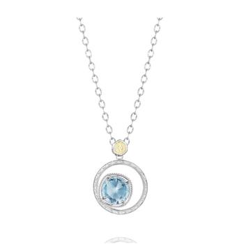 Tacori Bold Bloom necklace in sky blue topaz