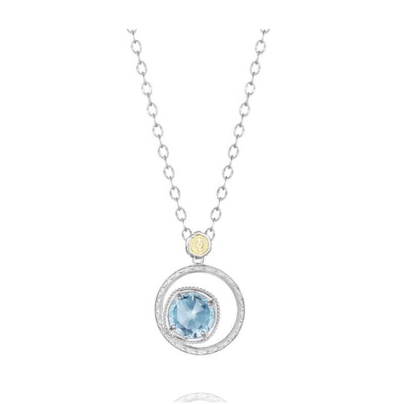 As Seen on Social Media Tacori Bold Bloom necklace in sky blue topaz