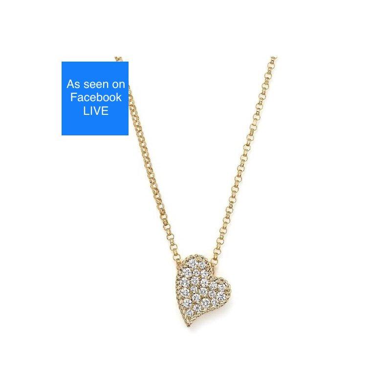 As Seen on Social Media Roberto Coin Princess Heart Necklace
