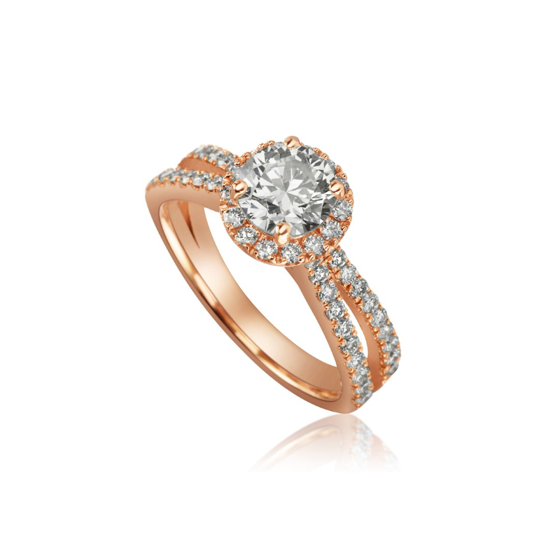 Our Top 20 Bridal Picks Mikhail  split band with round halo engagement ring