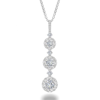 Forevermark Three Tier Drop Diamond Necklace