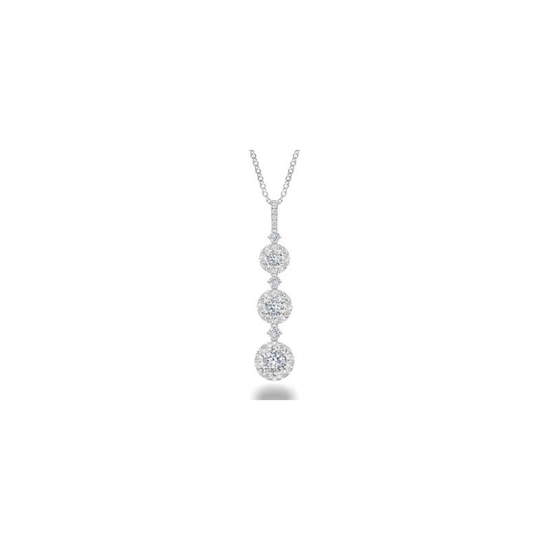 As Seen on Social Media Forevermark Three Tier Drop Diamond Necklace
