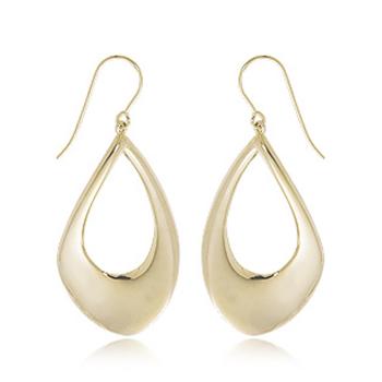 14k YG pear shape drop earrings