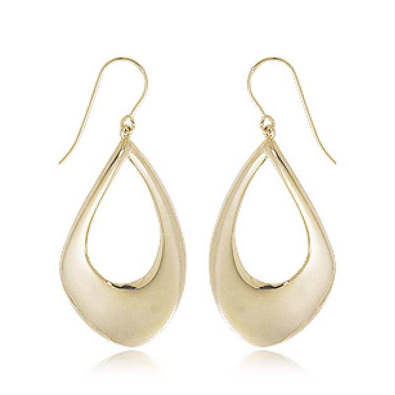 As Seen on Social Media 14k YG pear shape drop earrings