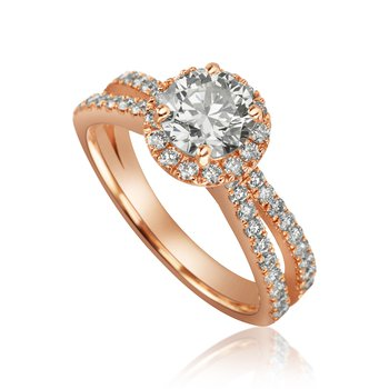 14-Karat Rose Gold Engagement Ring