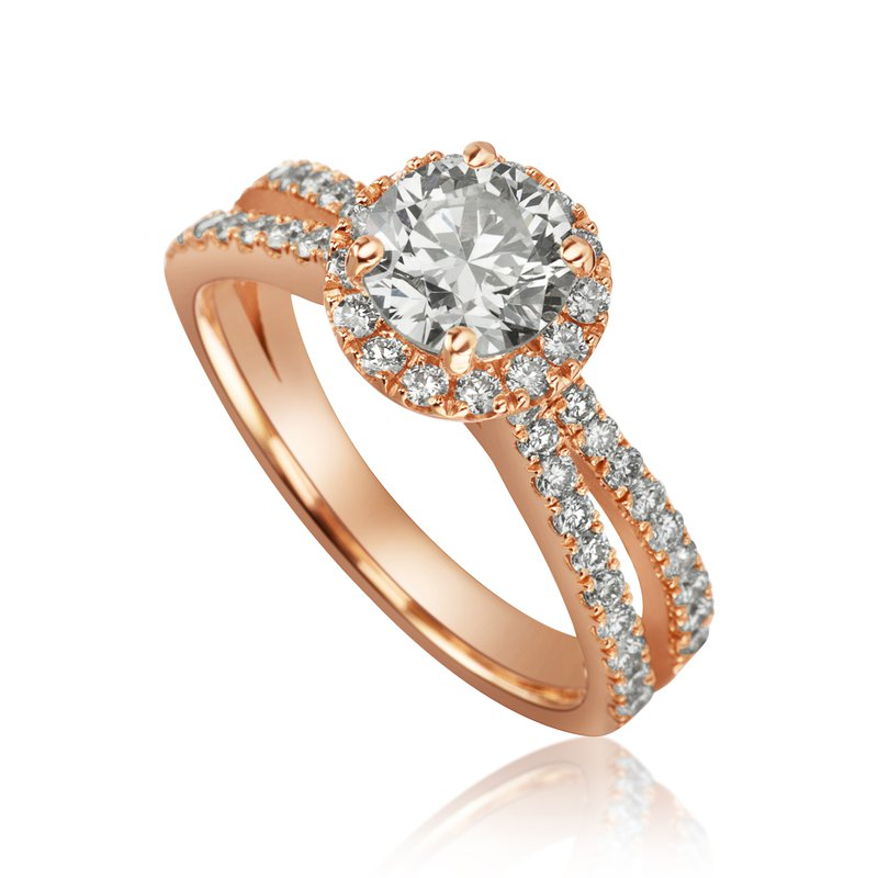 Mikhail 14-Karat Rose Gold Engagement Ring