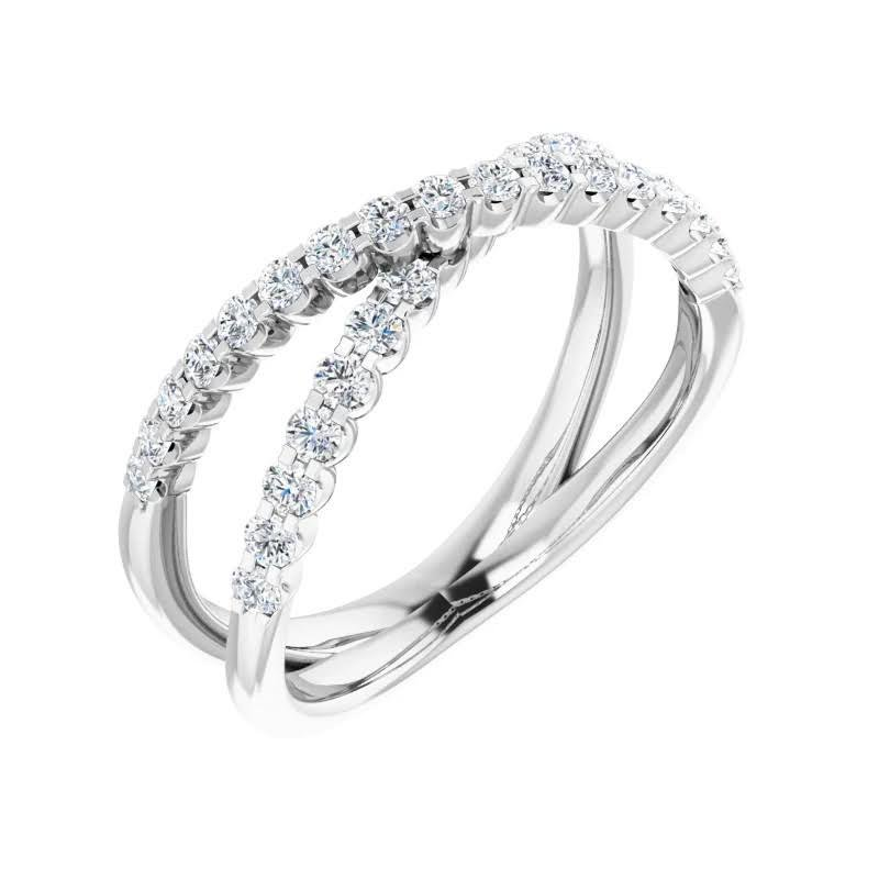 Holiday Diamond Criss Cross 1/2ct Ring (14kt white or yellow)
