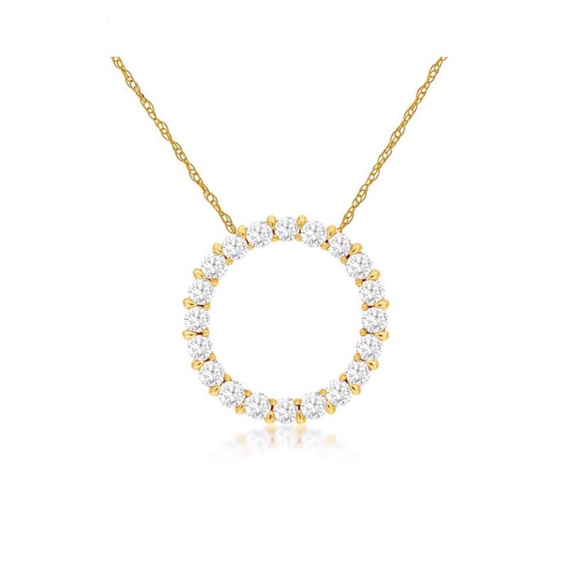 As Seen on Social Media Diamond Circle Necklace