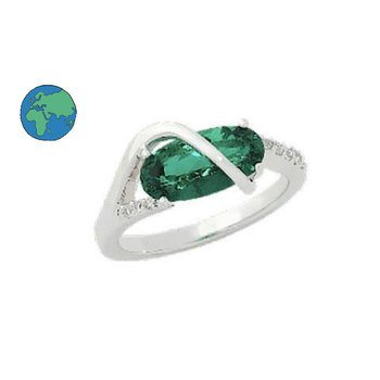 Chatham Emerald & Diamond Ring