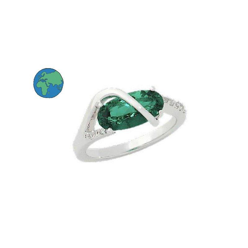 As Seen on Social Media Chatham Emerald & Diamond Ring