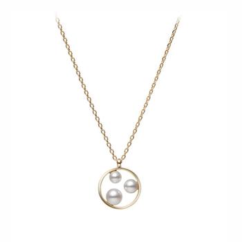 Mikimoto 3-Pearl Pendant