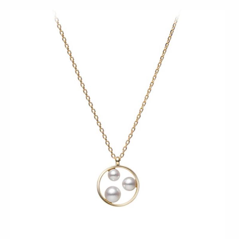 As Seen on Social Media Mikimoto 3-Pearl Pendant
