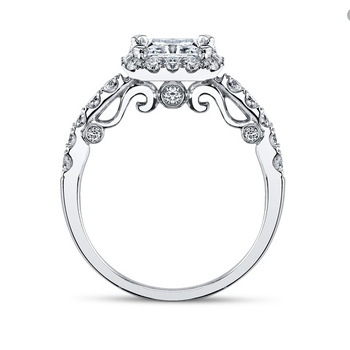 Verragio Insignia Princess Halo Engagement Ring