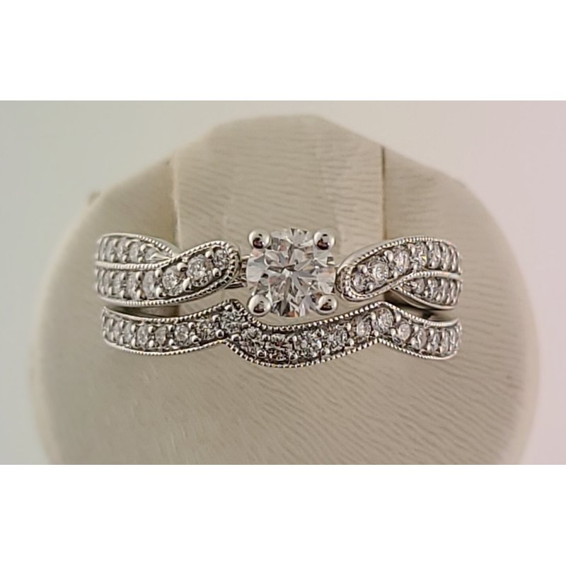 Spring Bridal Sale Bradley Gough Diamonds wg beaded twist wedding set