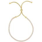 As Seen on Social Media Sterling Silver CZ bracelet w/ yellow finish