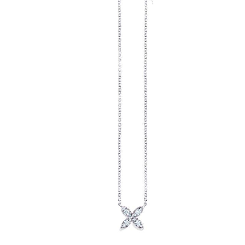 Kwiat Sunburst X Diamond Pendant