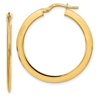 14k YG hoop earrings