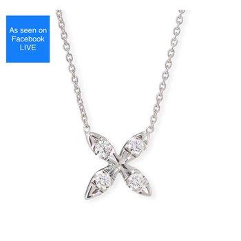 Roberto Coin Diamond X Necklace