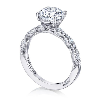 Tacori Pette Crescent Engagement Ring with marquise design band