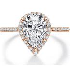 Our Top 20 Bridal Picks Bradley Gough Pear Halo Engagement Ring
