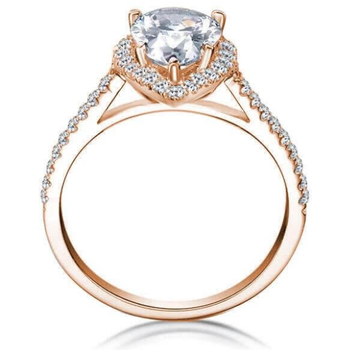 Bradley Gough Pear Halo Engagement Ring